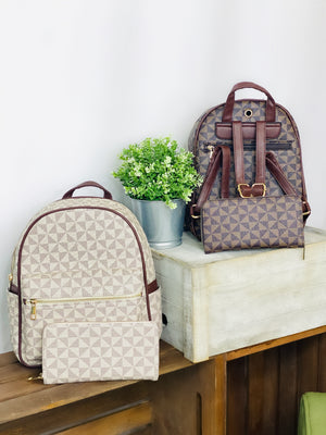 Luxie Backpack Purse & Wallet Set