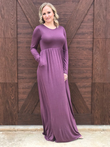 Solid Simple Maxi Dress
