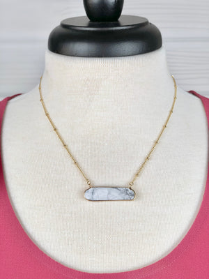 Slab Stone Foil Necklace