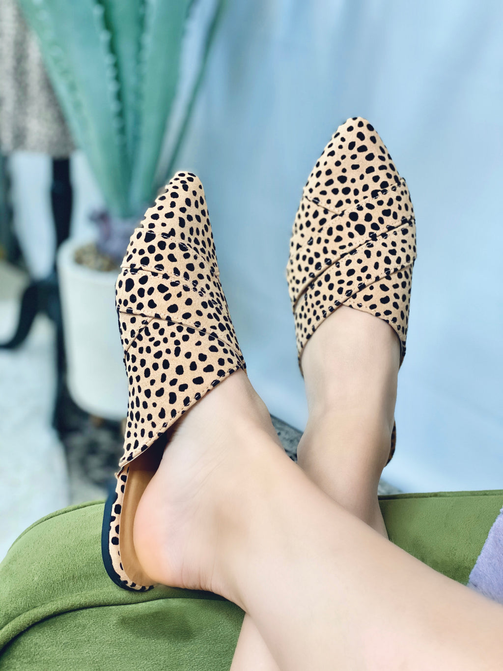 Cross Band Cheetah Mules
