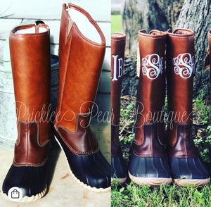 Girls Zip Up Duck Boots