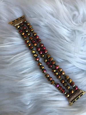 Multi-gold Crystal Stretch 38MM Watch Band