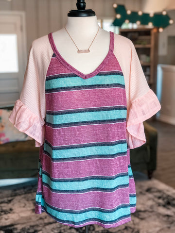 River Rose Raglan Plus Top