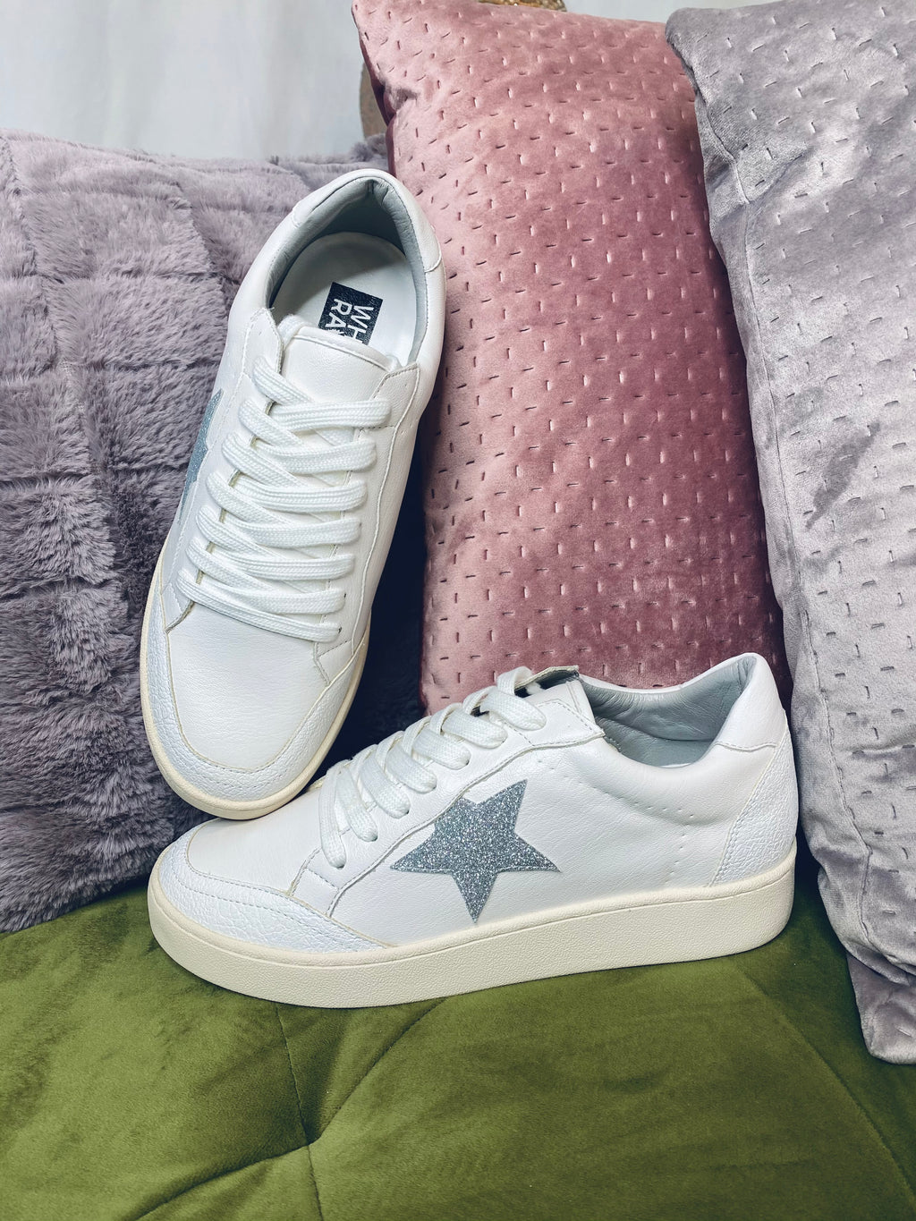 White Sneakers w/ Silver Star