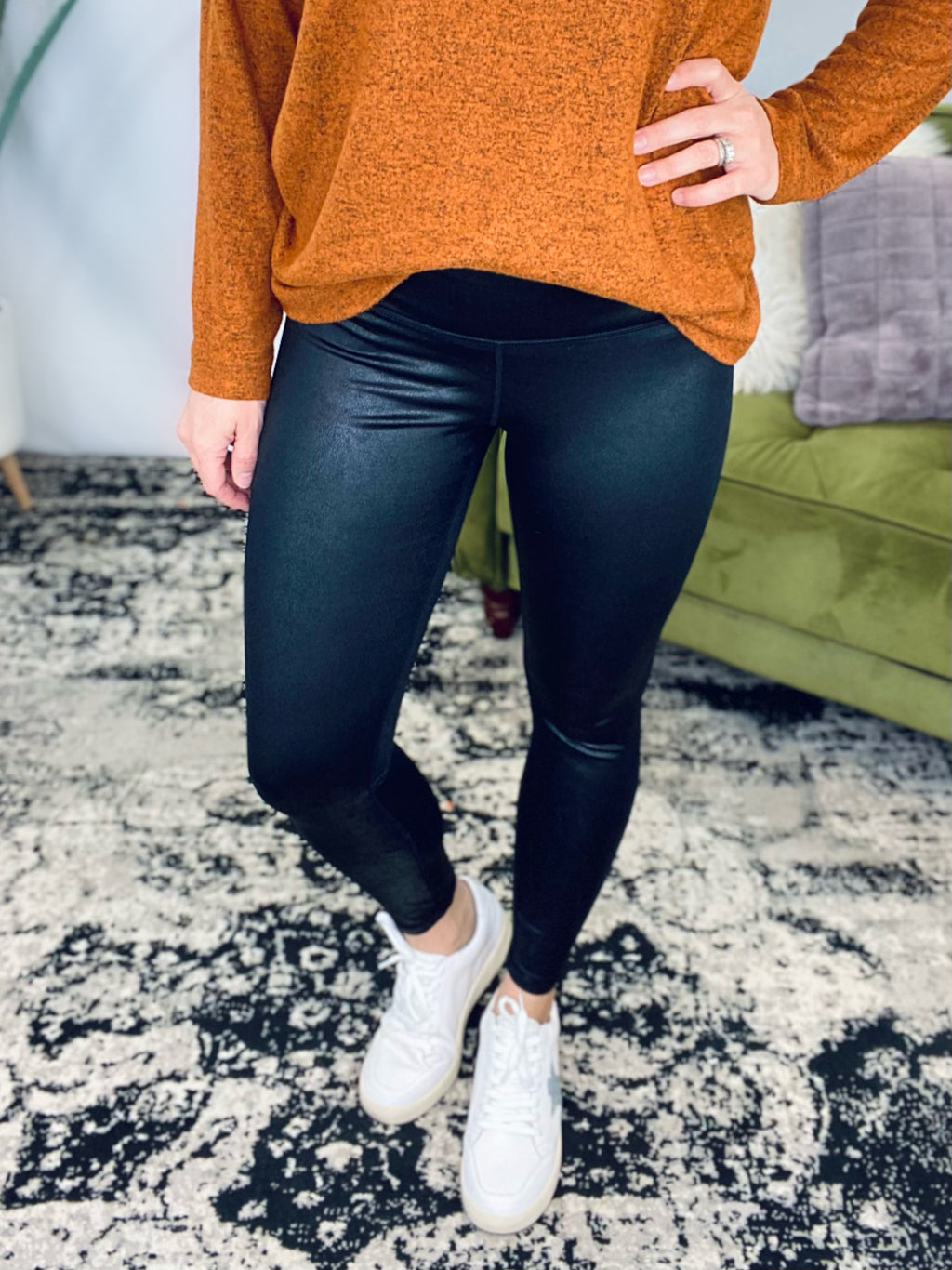 Perfect Black Pebble Leggings