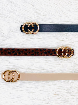 Skinny Double Loop Belt