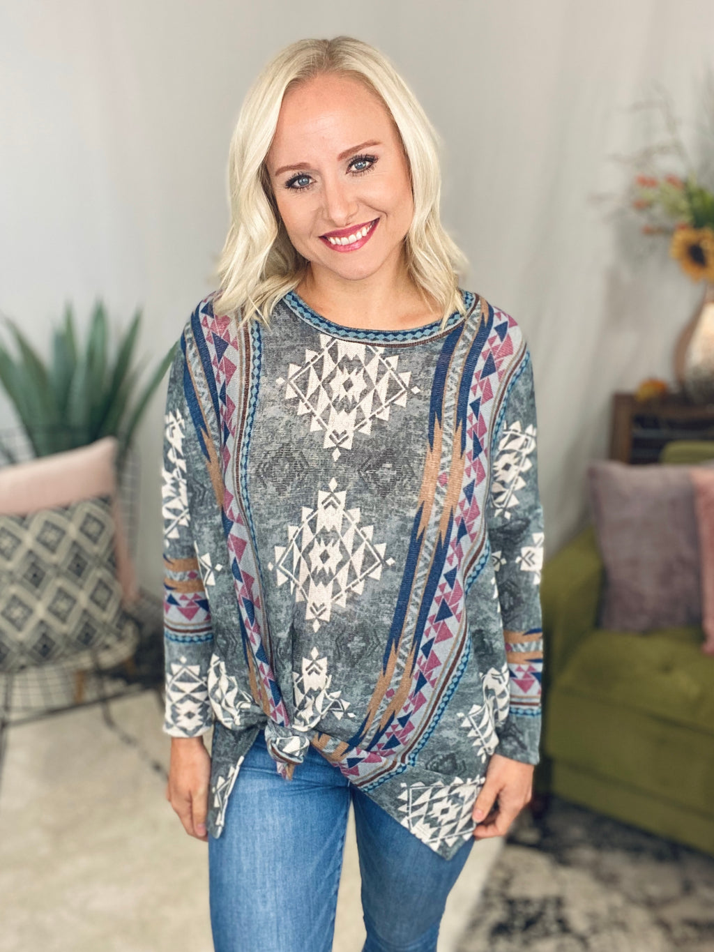 Aztec Tunic Sweater