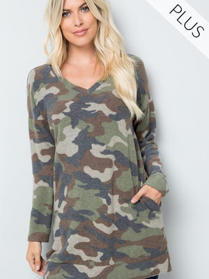Cozy Camo Plus Tunic
