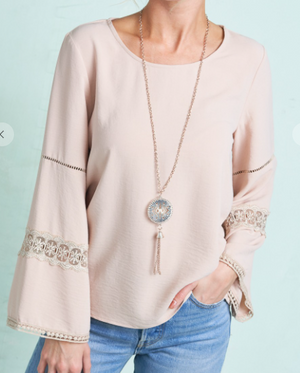 Taupe Bell Sleeve Beauty