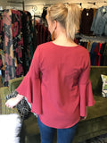 Raelyn Rust Bell Sleeve Top