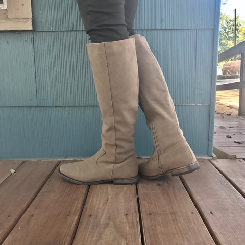 Terrifically Taupe Knee Boots