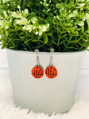 Basketball Dangle Earrings