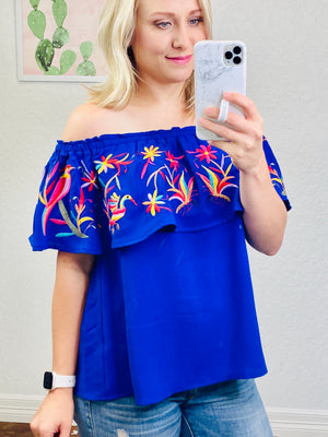 Royal Off The Shoulder Top