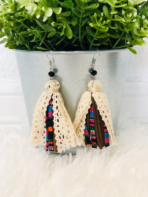 Serape Tassel Earrings