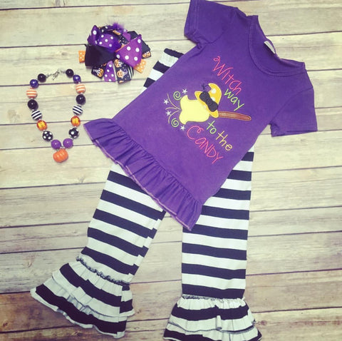 Witch Outfit w/Necklace & Bow