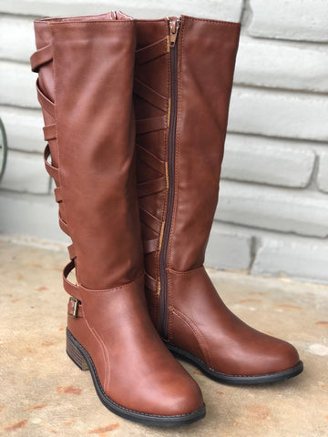 CrissCross Chestnut Riding Boot