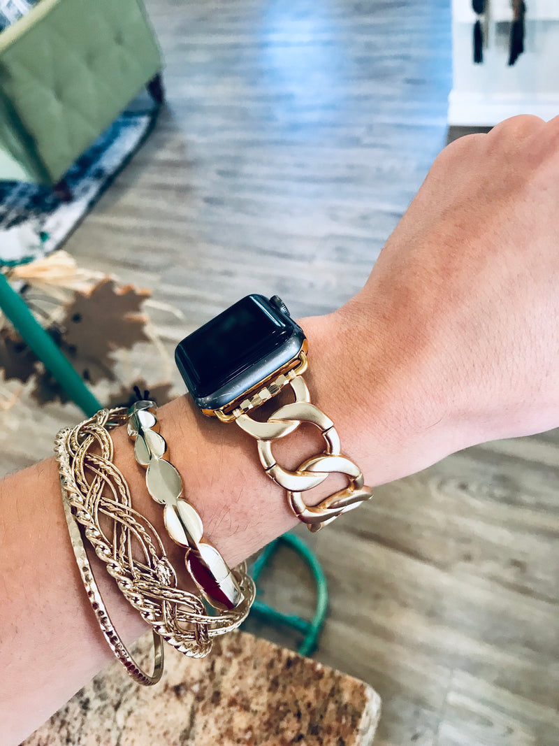 Gold Link Watch Band