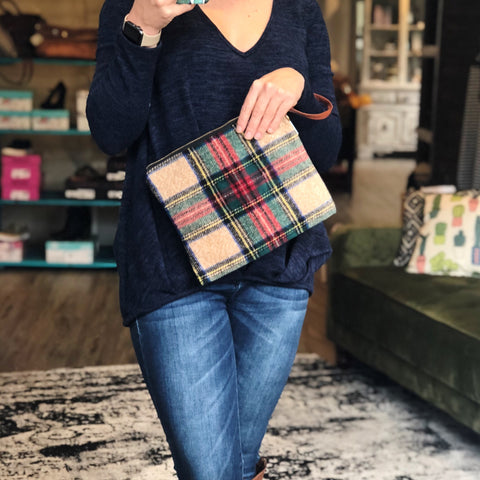 Fall Essential Plaid Clutch