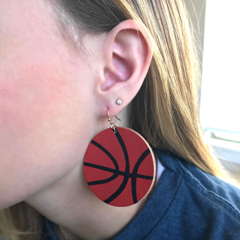 Basketball Circle Earring
