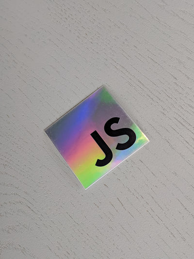Holographic JS Sticker