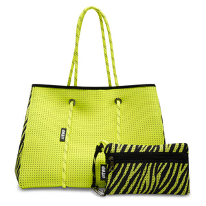 Neon Yellow Everyday Tote Bag