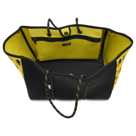 Image of Black and Yellow Manchester Bee Everyday Tote Bag