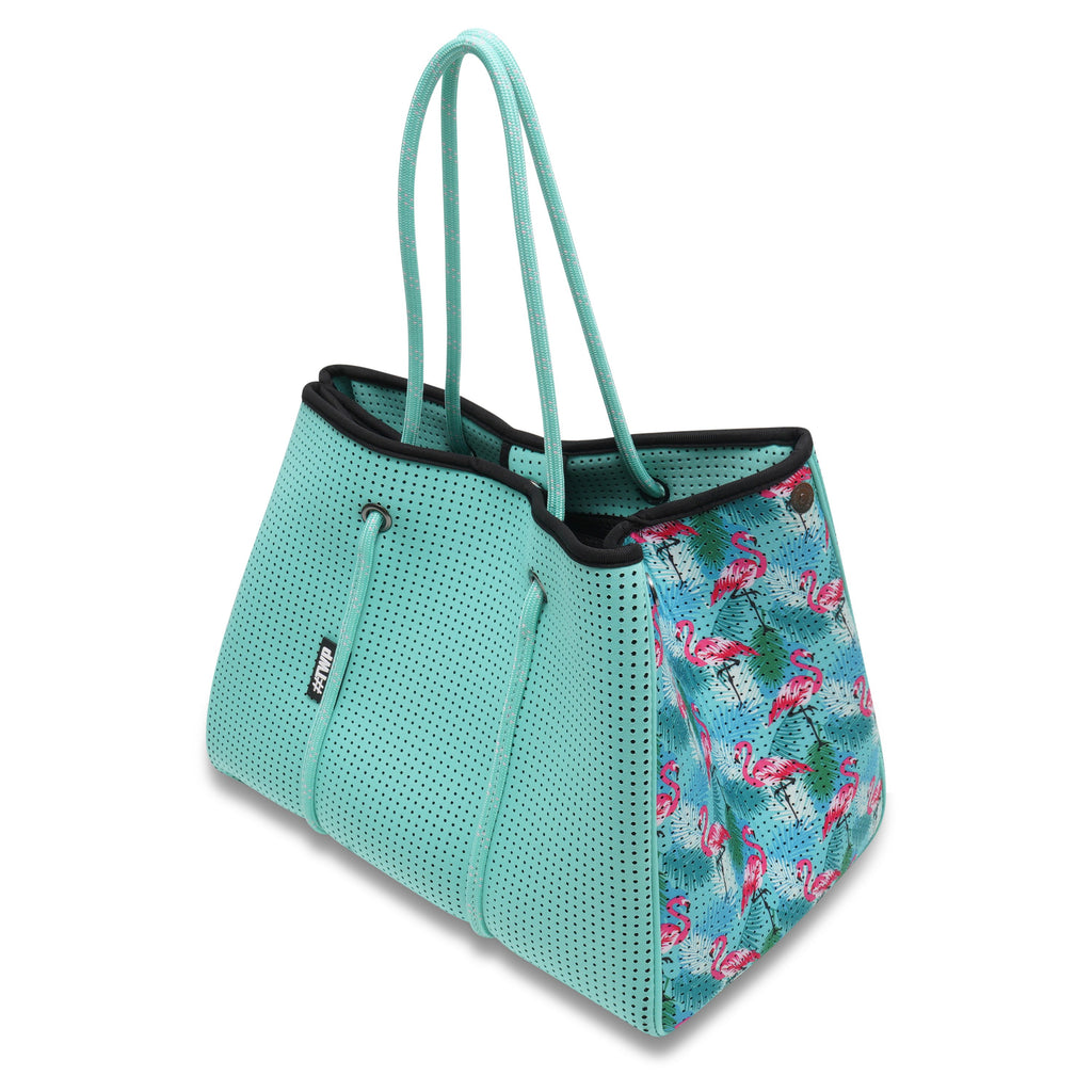 Aqua Flamingo Everyday Tote Bag