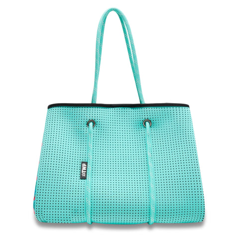 Image of Aqua Flamingo Everyday Tote Bag