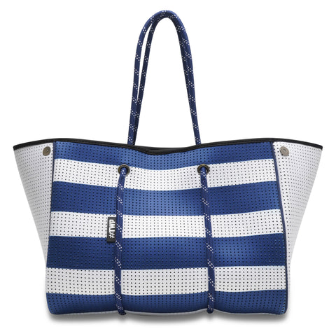 Image of Nautical Blue & White Everyday Tote Bag