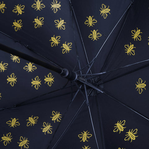 "Image of Large Manchester Bee 23"" Umbrella - Yellow (INC DELIVERY)"