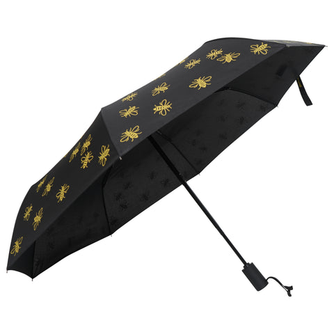 "Image of Compact Manchester Bee 21"" Umbrella - Yellow (INC DELIVERY)"