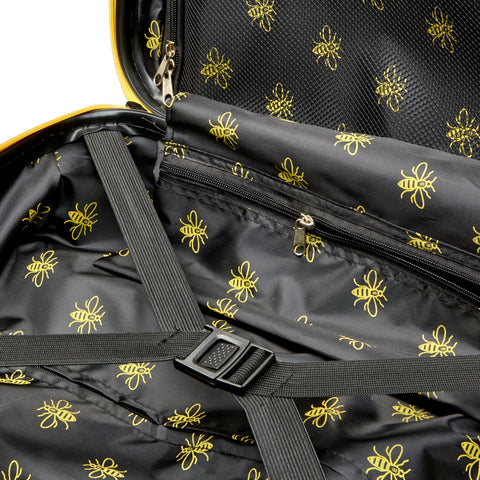 Manchester Bee Yellow Zipper - Carbon Effect