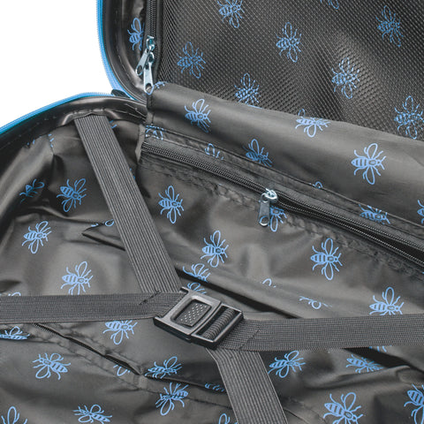 Manchester Bee Blue Zipper - Carbon Effect