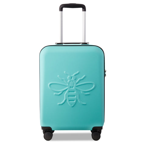 Image of Aqua Manchester Bee - Set of Three Suitcases