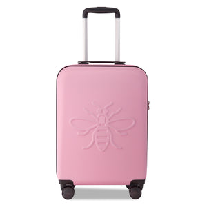 Millennial Pink Manchester Bee - Set of Three Suitcases