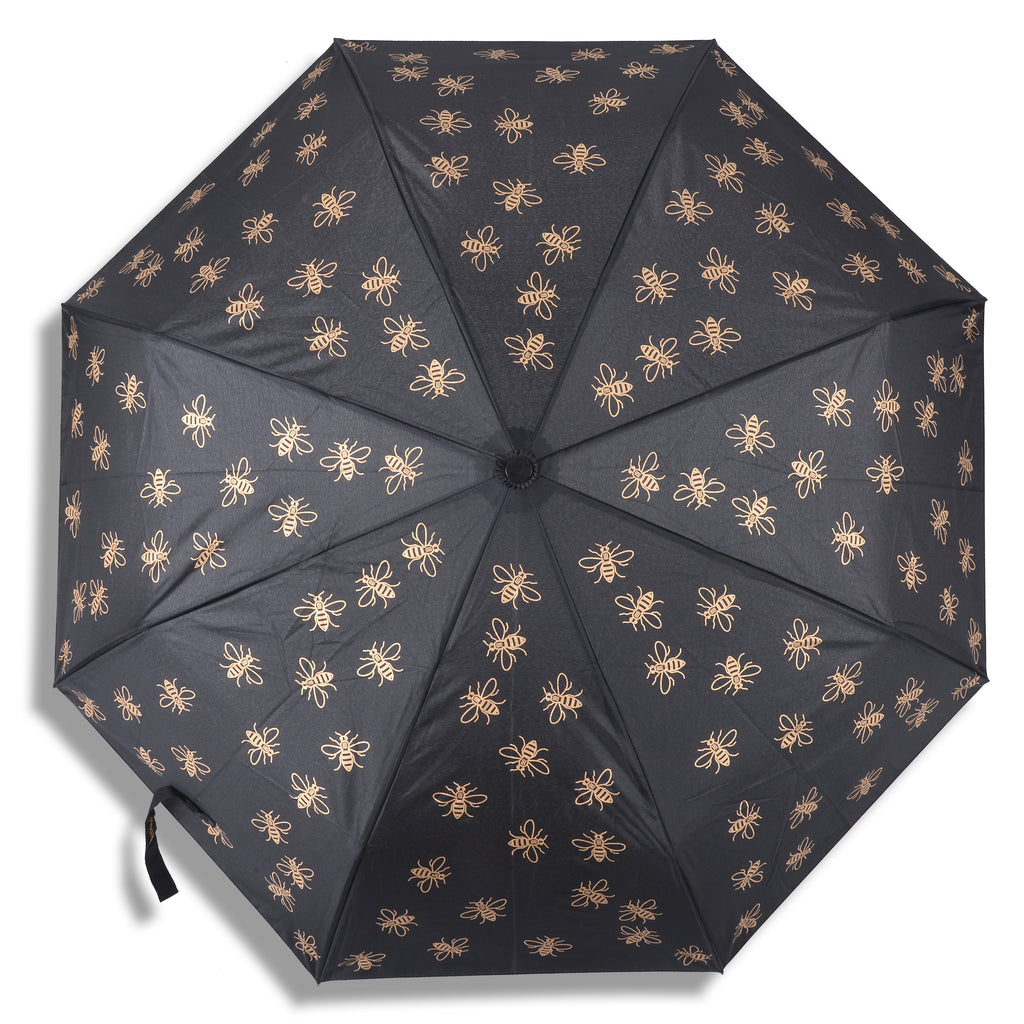 "Compact Bee 21"" Umbrella - Black & Gold (INC DELIVERY) Limited Edition"