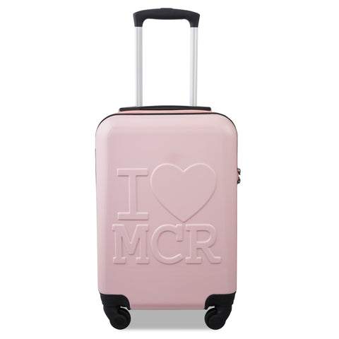 I Love MCR (Manchester) - Millennial Pink with Pink Zipper