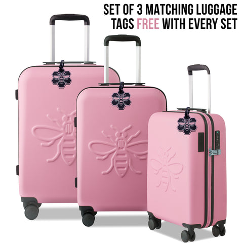 Image of Premium USBee Set of Three Suitcases - Millennial Pink