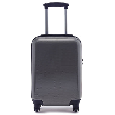 "Kitkase Branded 20"" Travelcase - Carbon Effect with Black Zipper"