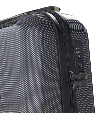 "Image of Kitkase Branded 20"" Travelcase - Carbon Effect with Black Zipper"