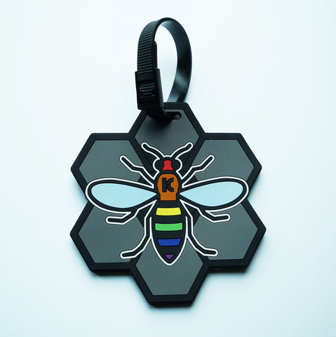 Rainbow Bee Luggage Tag