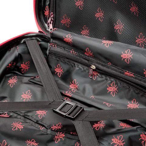 Image of Manchester Bee Red Zipper - Carbon Effect