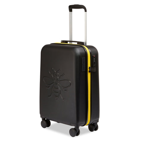 Premium USBee Set of Three Suitcases - Black & Yellow