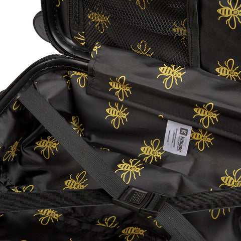 Black & Yellow Manchester Bee - Set of Three Suitcases