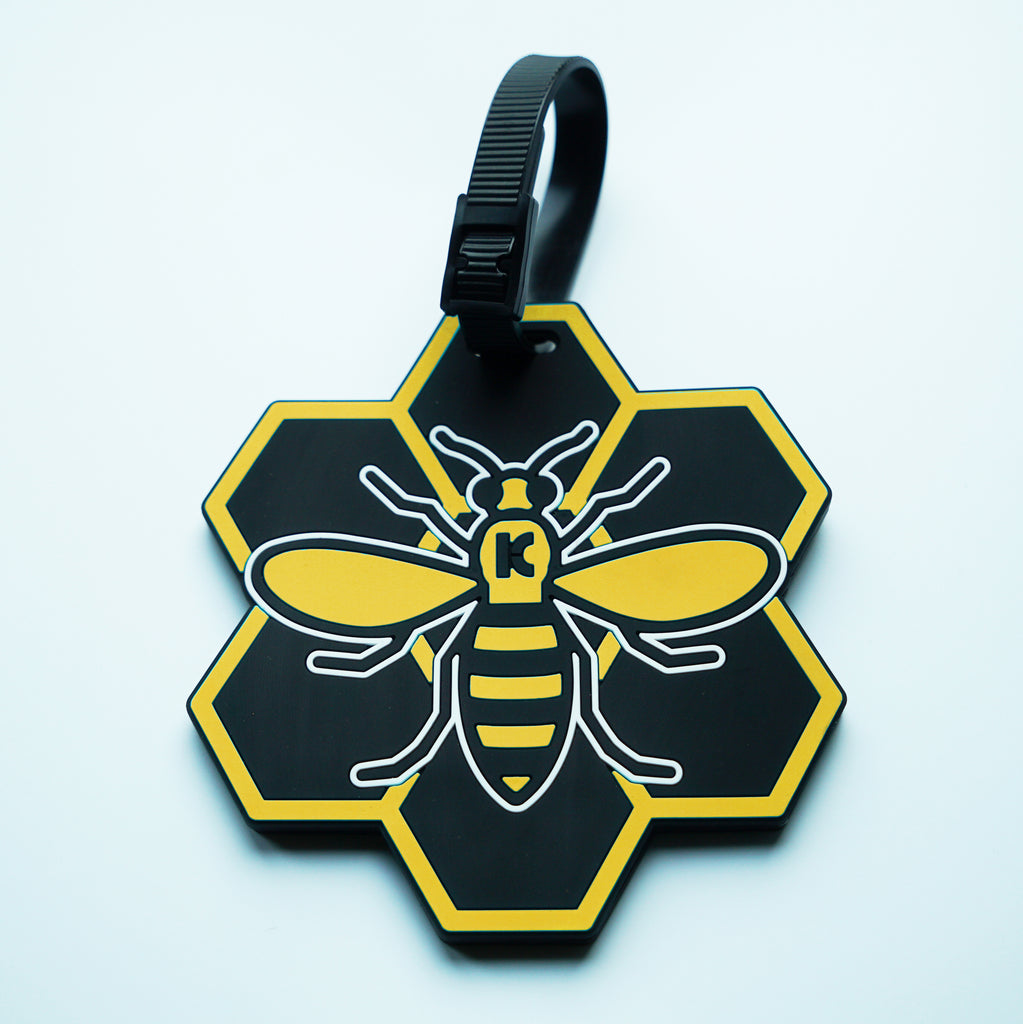 9ccba96b990b Yellow MCR (Manchester) Bee Luggage Tag