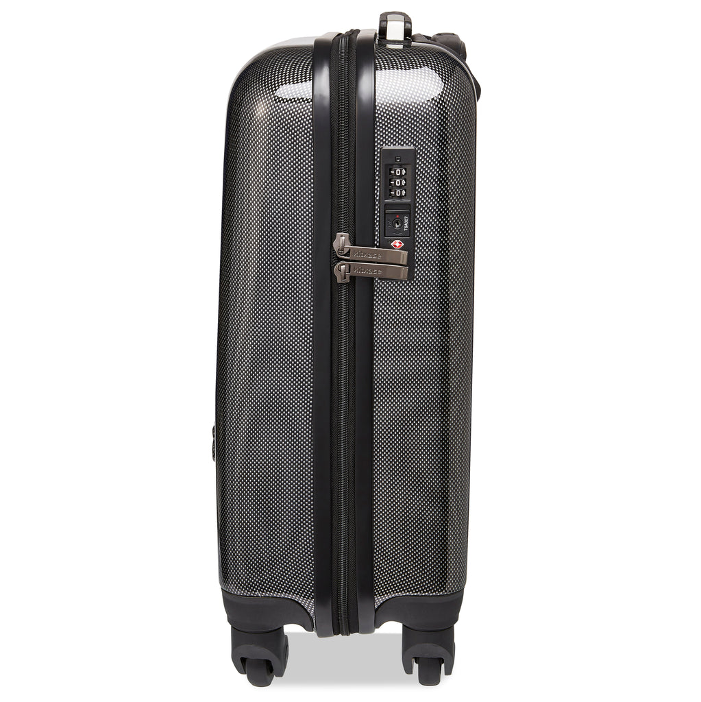 Kitkase Branded Cabin Case - Carbon Effect with Black Zipper