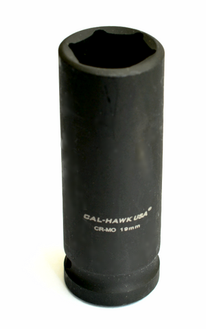 "Deep Impact Socket 1/2"" Drive x 19 mm - Impact Socket - Texas Tire Supplies"