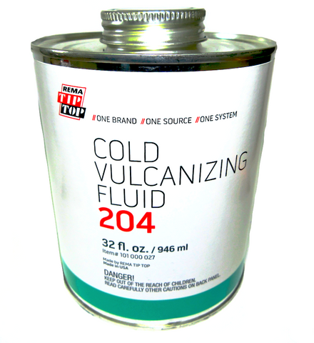 Rema Cold Vulcanizing Fluid 204 (32 oz.) - Tire Repair Patches - Texas Tire Supplies