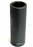 "Deep Impact Socket 1/2"" Drive x 22 mm - Impact Socket - Texas Tire Supplies"