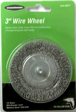 "3"" Wire Wheel with 1/4"" Shank - Air Tools - Texas Tire Supplies"